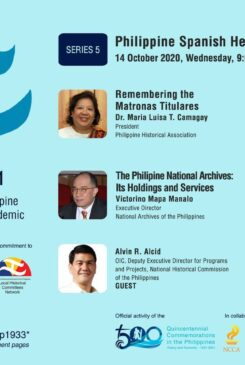 Local Historical Committees Network – DLSU Dasmariñas Cavite Studies Center Webinar No. 4: Philippine-Spanish Heritage