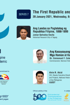 Local Historical Committees Network – DLSU Dasmariñas Cavite Studies Center Webinar No. 8: Commemorating the First Philippine Republic