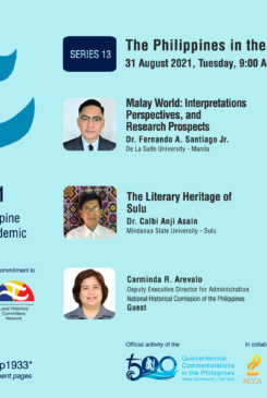 Local Historical Committees Network – DLSU Dasmariñas Cavite Studies Center Webinar No. 13: The Philippines in the Malay World